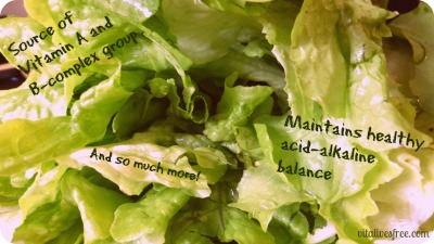 Lettuce can jelp you achieve acne free skin.