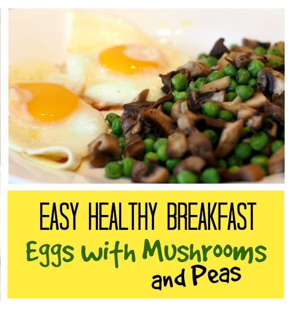 Easy healthy recipe: eggs with mushrooms and peas