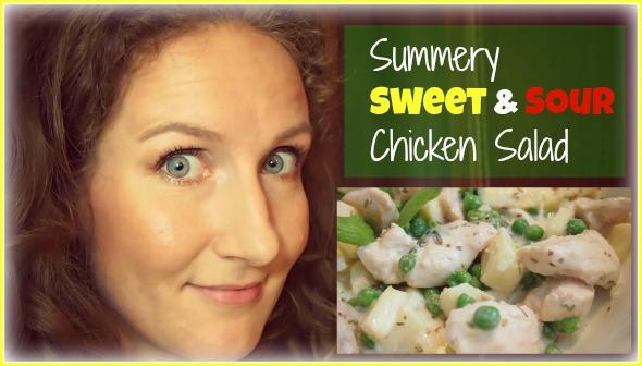 Easy Healthy Recipe: Summery Sweet & Sour Chicken Salad