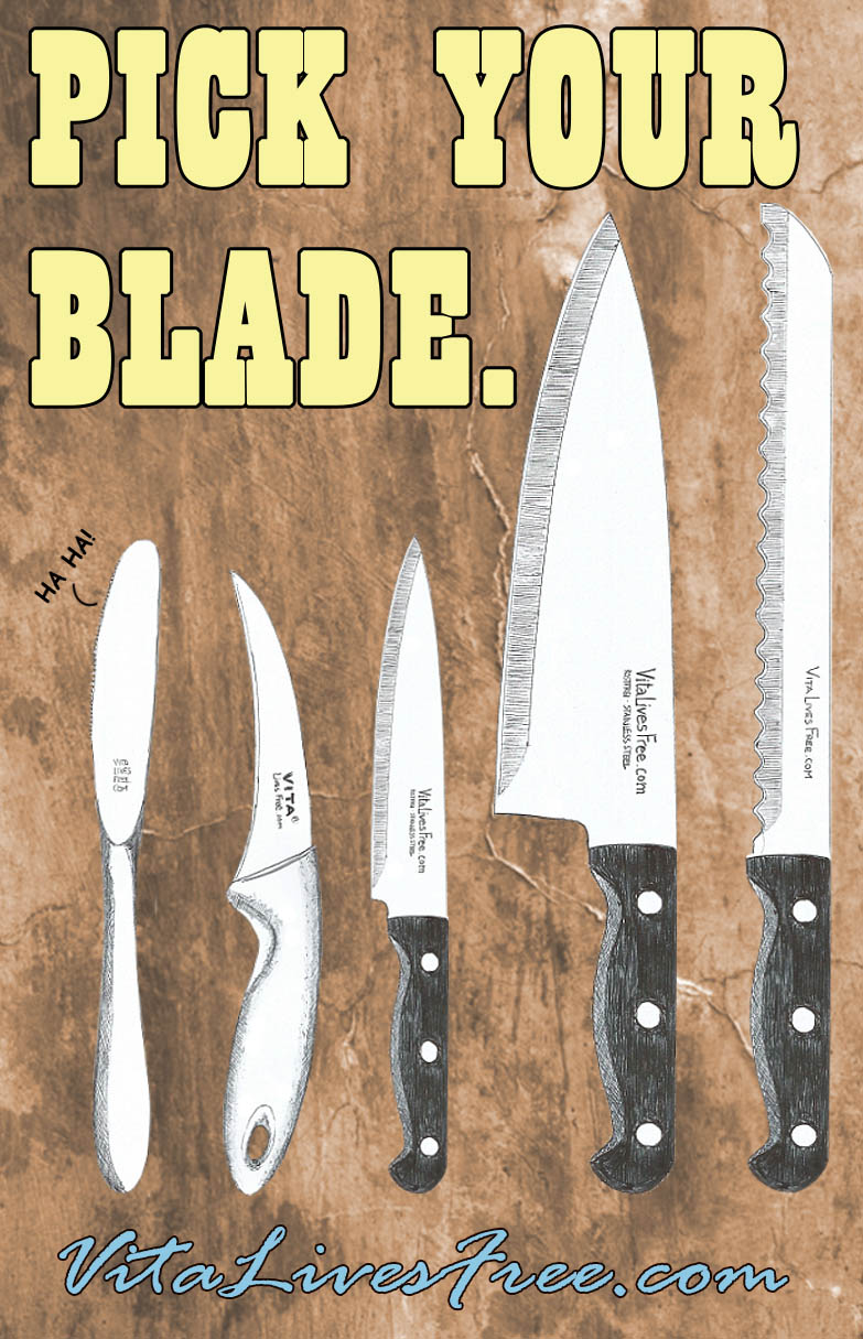 Pick Your Blade - A perfect guide to the most popular kitchen knives and their usage