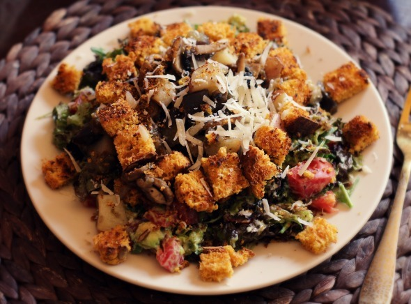 Eggplant, Potato, and Mushroom Salad Recipe – Umami At Its Best!