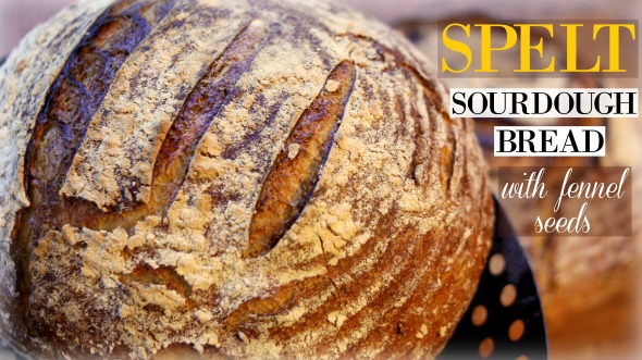 Spelt Sourdough Bread with Fennel Seeds – Mediterranean-Inspired Sourdough Recipe!