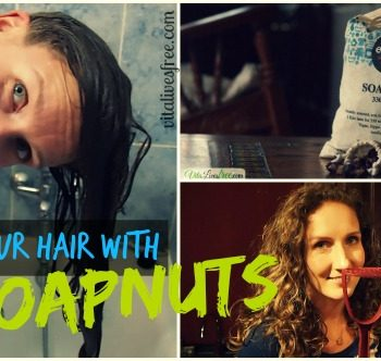 Wash your hair without shampoo using soapnuts